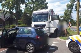 Dronken vrachtwagenchauffeur klemgereden door politie