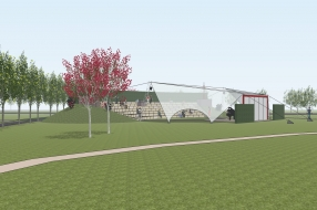 Plan voor het realiseren van een openluchttheater in Oploo
