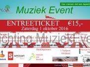 Ticketverkoop voor het Muziekevent is gestart!